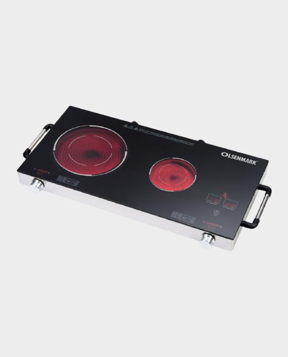 Olsenmark OMIC2280 Double Infrared Cooker Ceramic Heating in Qatar