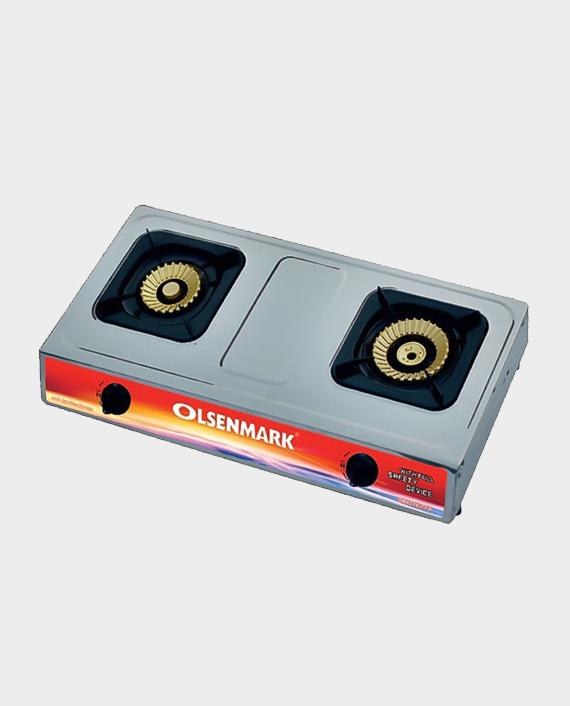 Olsenmark OMK2190 Stainless Steel Double Burner Gas Stove in Qatar