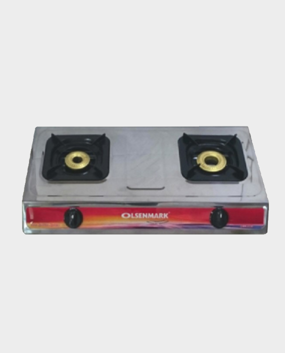 Olsenmark OMK2230 Double Burner Stainless Steel Gas Stove in Qatar