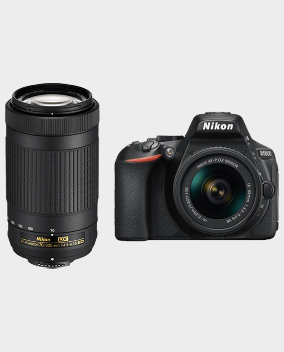 Nikon D5600 with AF-P 18-55 mm + Nikkor AF-P DX 70-300 F4.5-6.3G Lens in Qatar