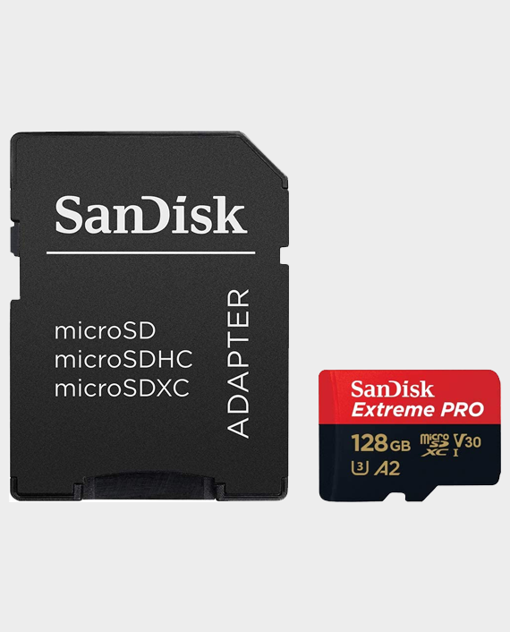 SanDisk Extreme Pro A2 Micro Memory Card 128gb
