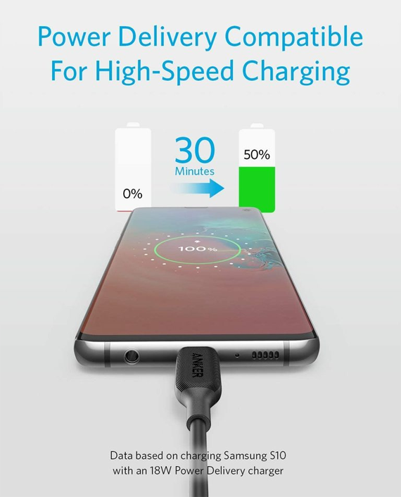 Anker PowerLine III USB-C to USB-C Cable 3ft or 0.9m
