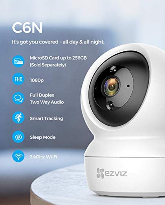 Ezviz C6N CS-C6N-A0-1C2WFR Smart Wi-Fi Pan & Tilt Camera