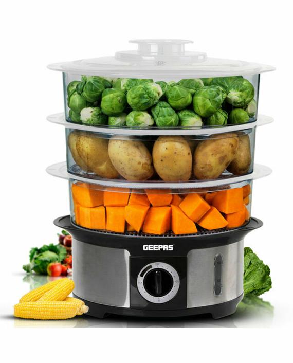 Geepas GFS63025UK 1000W Electric Food Steamer