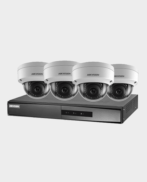 Hikvision NK42E1H 4 X 2MP Dome Camera 2.8mm + 1 X 4-ch PoE NVR in Qatar