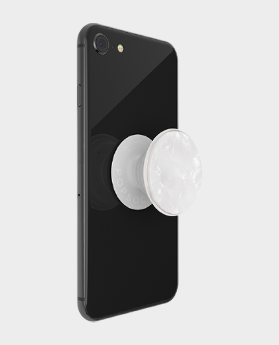 Popsockets PopGrip Luxe Acetate Pearl White in Qatar