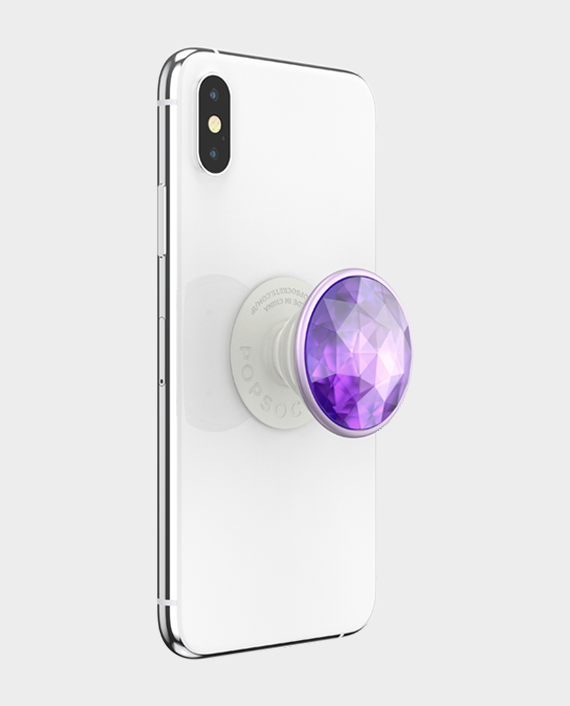 Popsockets PopGrip Premium Disco Crystal Orchid in Qatar