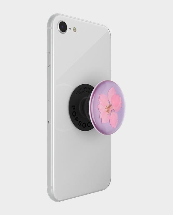 Popsockets PopGrip Premium Pressed Flower Delphinium Pink in Qatar