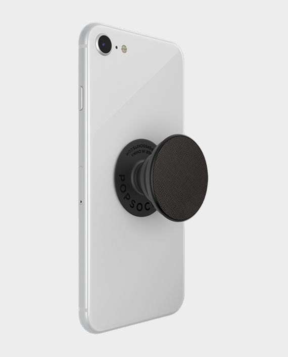 Popsockets PopGrip Premium Saffiano Black in Qatar