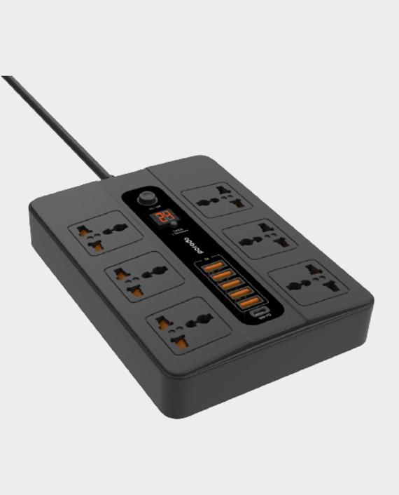 Porodo 5 Multi-Port Super Hub 5 USB 6 AC Output 1 USB-C PD in Qatar