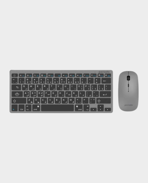 Porodo Super Slim & Portable Keyboard + Mouse English & Arabic in Qatar