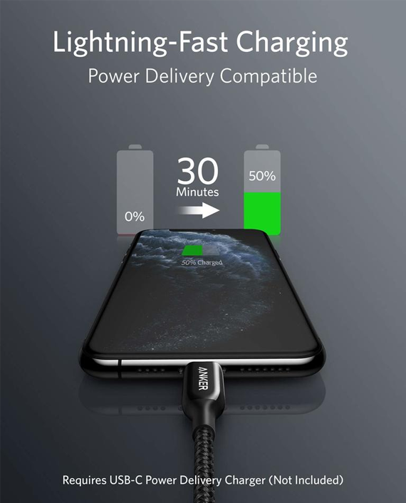 Anker PowerLine+ III USB-C to Lightning Connector 6ft / 1.8m