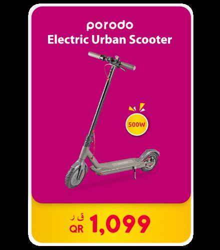 Porodo Electric Urban Scooter 500W – Black