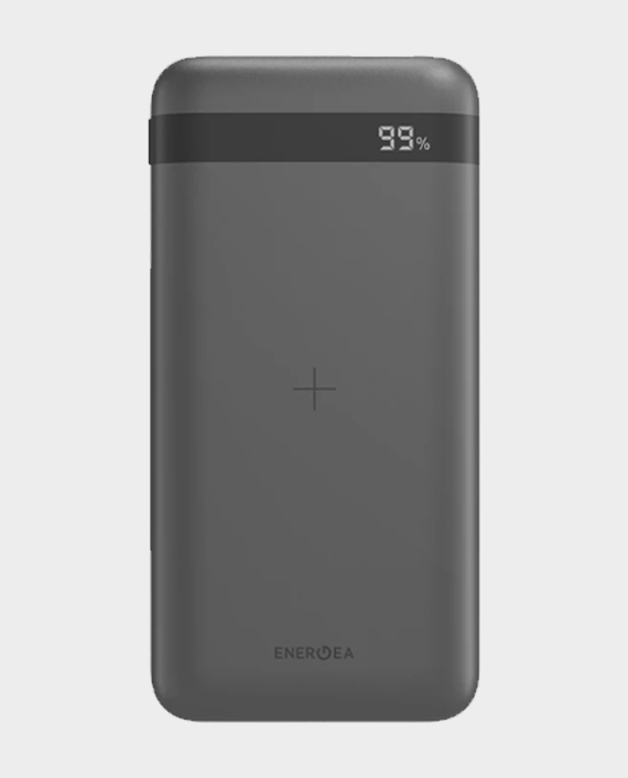 Enegea Enerpac Omni 10000mAh USB-C PD Fast Wireless + Lightning Input Power Bank - Dark Gunmetal in Qatar