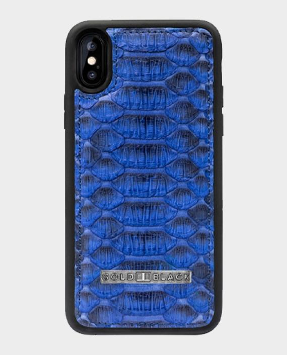 Gold Black Exotic iPhone XS Case Python Blue in Qatar