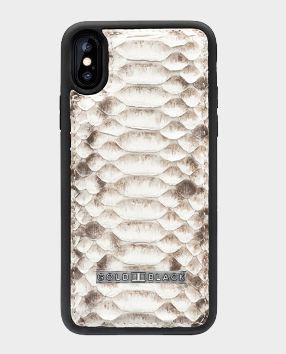 Gold Black Exotic iPhone XS Case Python Natural in Qatar