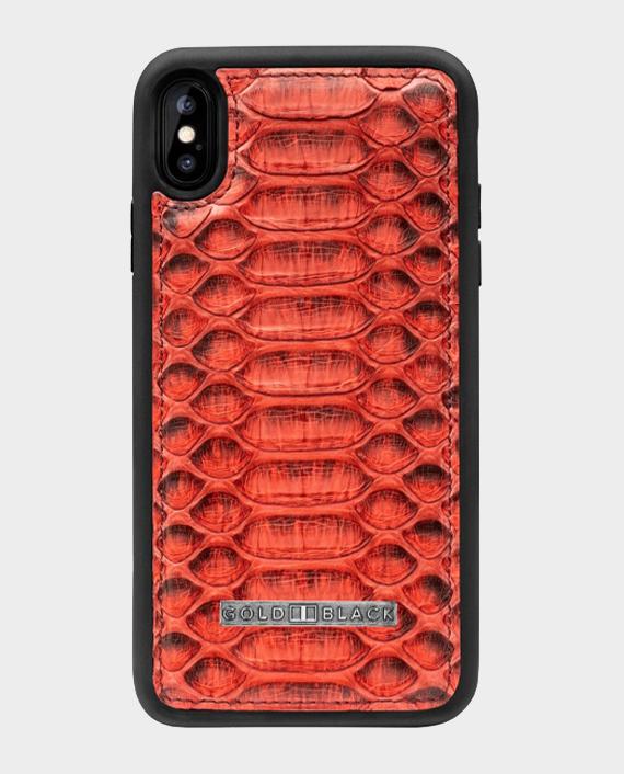 Gold Black Exotic iPhone XS Max Case Python Dark Red in Qatar