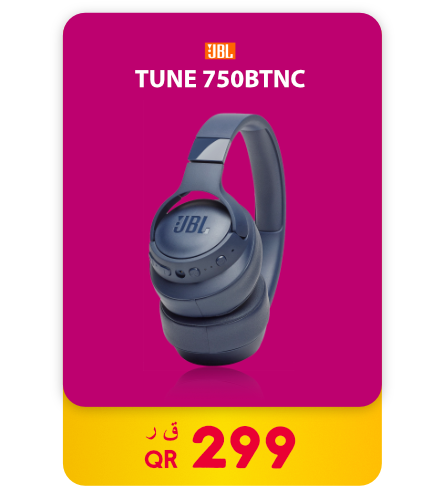 JBL Tune 750 Wireless Headset with Active Noise Cancelling