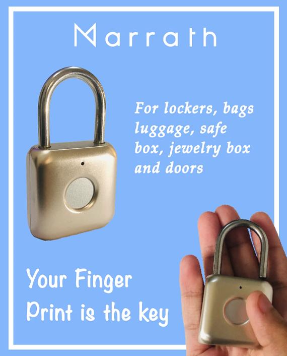 Marrath Smart Fingerprint Pad Lock