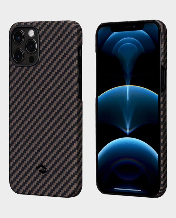 Pitaka iPhone 12 Pro MagEZ Case Black/Gold Twill in Qatar
