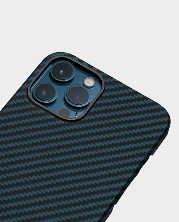 Pitaka iPhone 12 Pro Max MagEZ Case Black Blue Twill