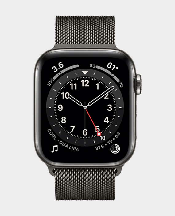 Apple Watch Series 6 M09J3 44mm GPS+Cellular Graphite Stainless Steel Case with Milanese Loop in Qatar