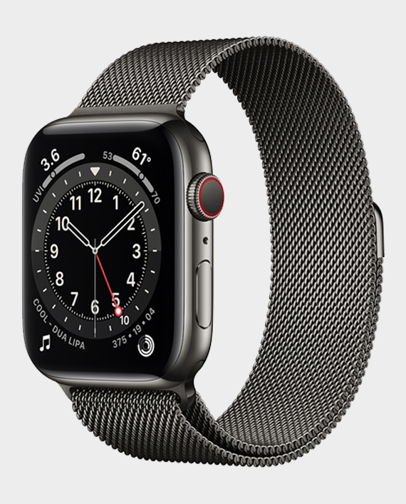 Apple Watch Series 6 M09J3 44mm GPS+Cellular Graphite Stainless Steel Case with Milanese Loop