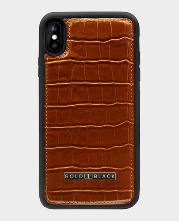 Gold Black iPhone XS Max Case Croco Brown in Qatar