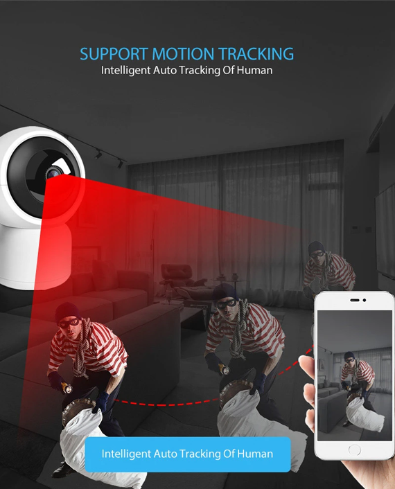 Marrath Smart WiFi 1080P Full HD IP PTZ CCTV Video Auto Tracking Camera
