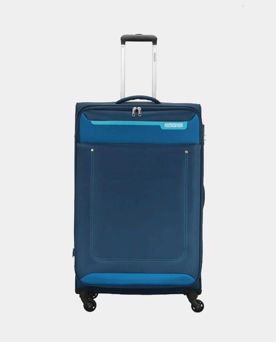 American Tourister GAT104LUG03421 57cm Jackson Soft Case Trolley Bag Blue in Qatar