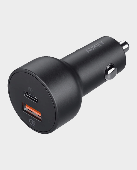 Aukey Y6B USB-C 36W Quick Car Charger in Qatar