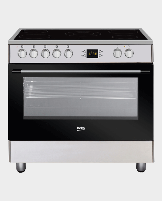 Beko GM17300GX Ceramic Cooking Range 90x60 5 Ceramic Hob in Qatar