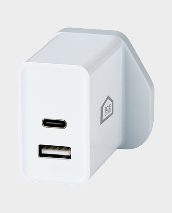 ICE CUBE Secure - Dual-Port USB Wall Charger in Qatar