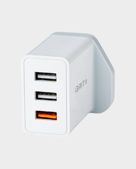iBRIT Casa Q3 Triple Port USB Wall Charger UK Standard in Qatar