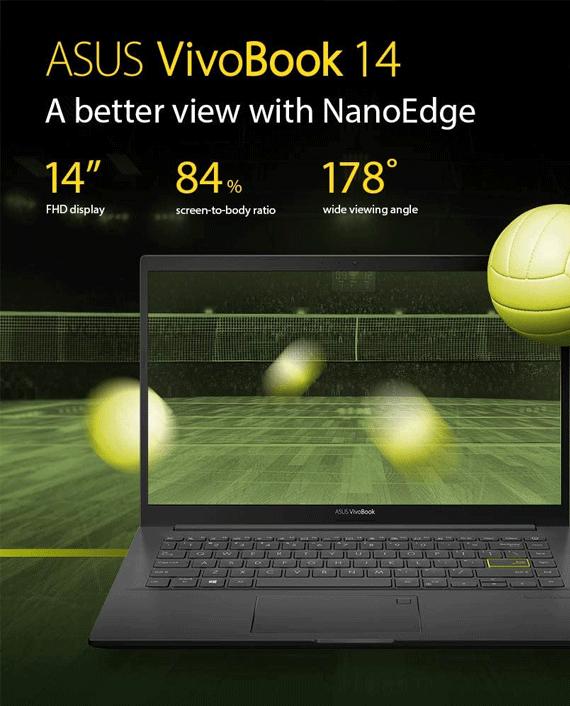 Asus VivoBook 14 K413EP-EB145T i5-1135G7 8GB Ram 512GB SSD GeForce MX330 2GB 14 Inch FHD Windows 10