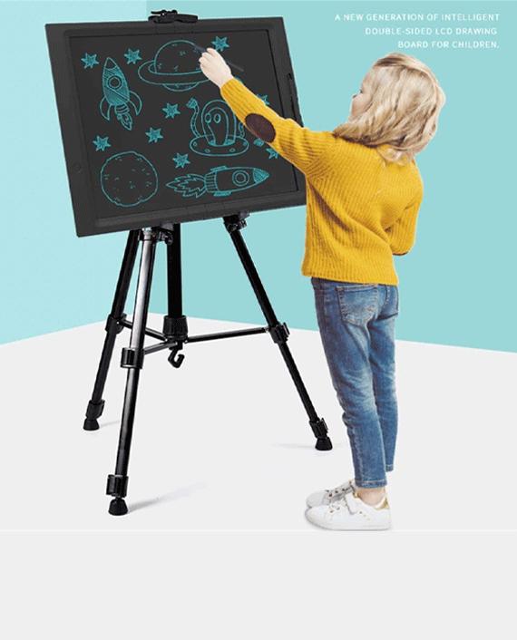 LCD Writing Blackboard 21 Inch with Tripod Black