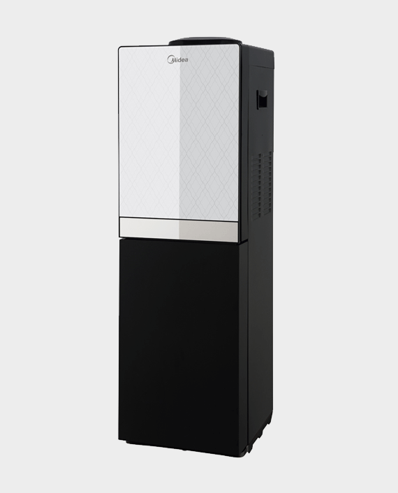 Midea YL1836S Water Dispenser with Refrigerator Silver & Black in Qatar