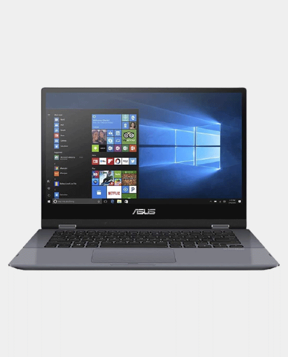 Asus Vivobook Flip TP412FA-EC721T i3-10110U 8GB Ram 512GB SSD Intel HD Graphics 14 Inch FHD Touch Screen Windows 10 Grey in Qatar
