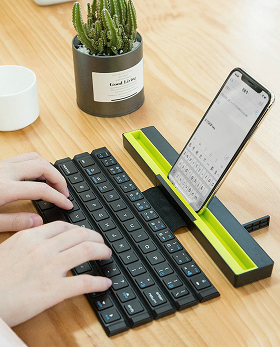 Green Universal Foldable Wireless Keyboard