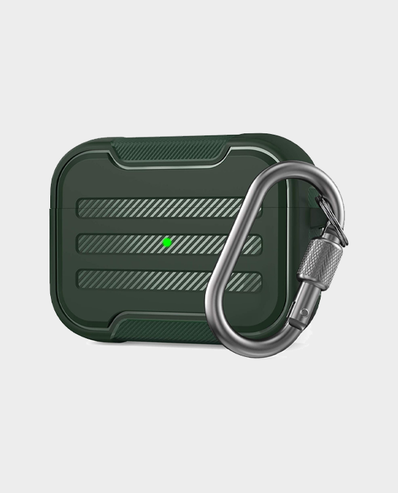 Ahastyle Rugged Armour Protection Case For Airpods Pro Midnight Green in Qatar