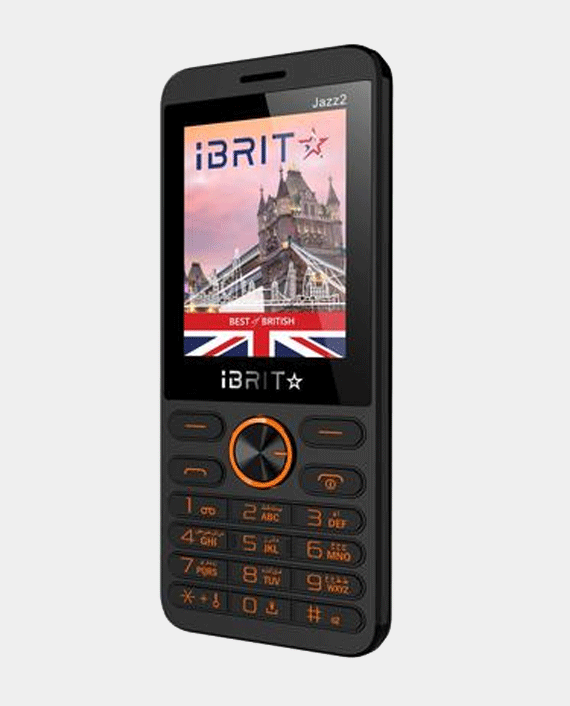 iBRIT Jazz 2 Dual Sim 32MB Black & Orange in Qatar