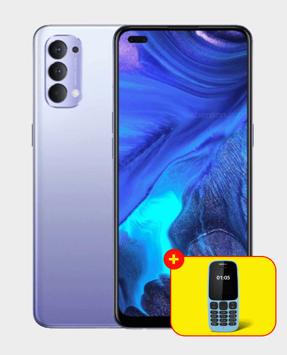 Oppo Reno 4 8GB 128GB Purple in Qatar