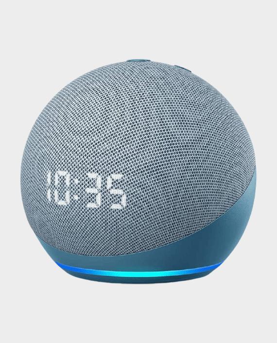 Amazon Echo Dot 4th Generation With Clock Twilight Blue in Qatar