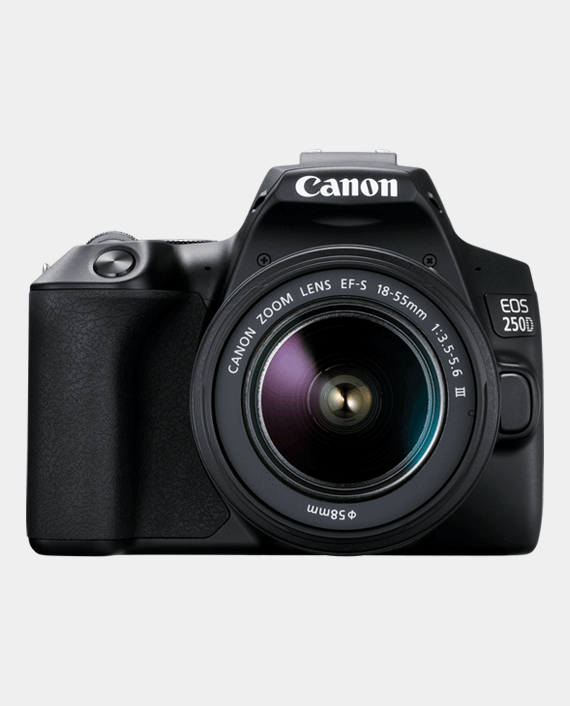 Canon EOS 250D + EF-S 18-55mm f/3.5-5.6 III Lens in Qatar