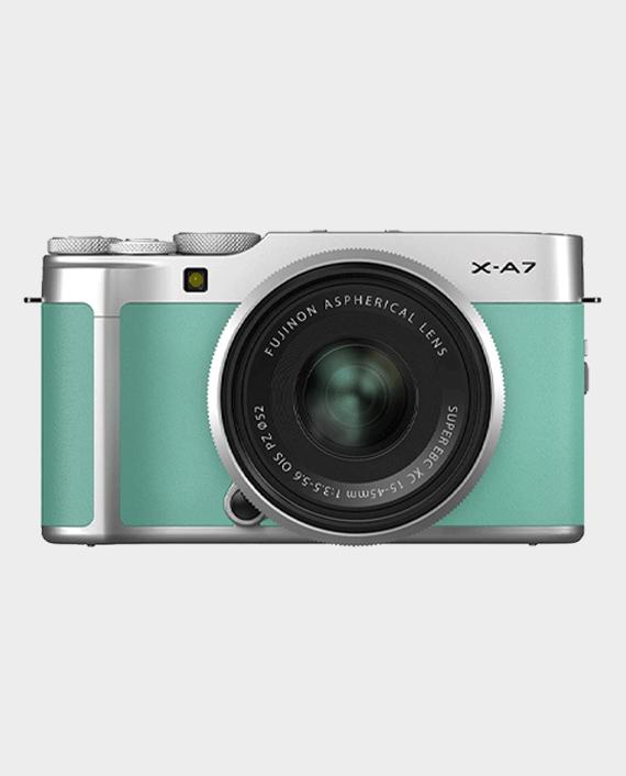 Fujifilm X-A7 Mirrorless Digital Camera with 15-45mm Lens Mint Green in Qatar