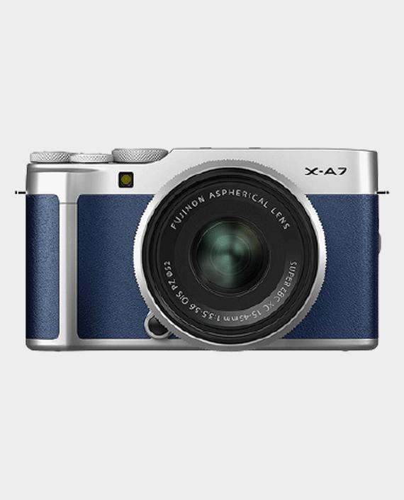 Fujifilm X-A7 Mirrorless Digital Camera with 15-45mm Lens Navy Blue in Qatar