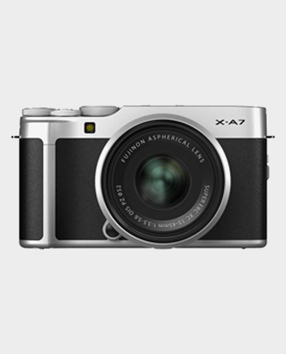 Fujifilm X-A7 Mirrorless Digital Camera with 15-45mm Lens Silver in Qatar