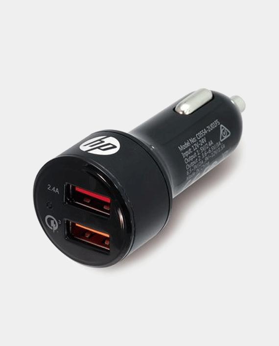 HP USB 2.4A Port + QC3.0 Port Car Charger in Qatar