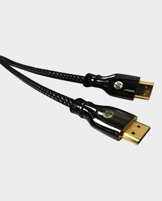 HP Pro Metal High Speed Cable HP026GBBLK3TW HDMI To HDMI 3.0m in Qatar