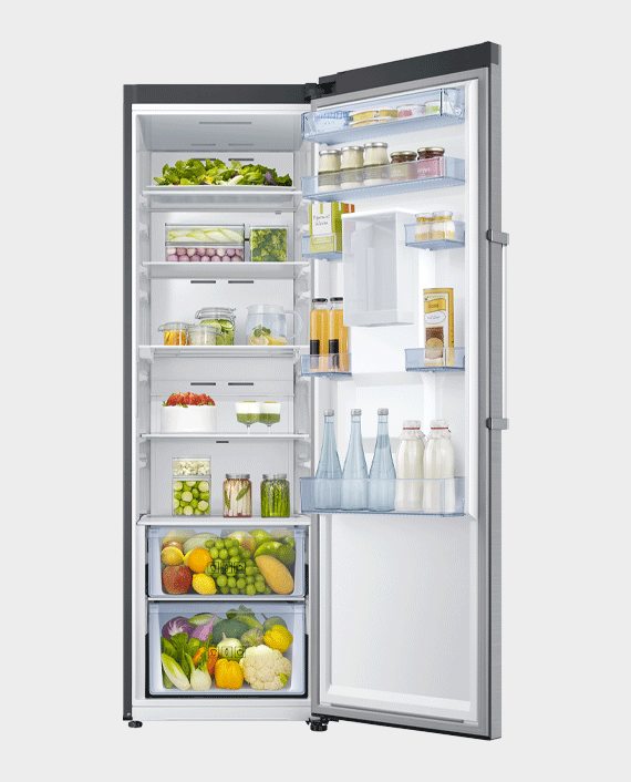 Samsung RR39M73107F SG Upright Refrigerator with Digital Inverter Technology 375L Refined Steel